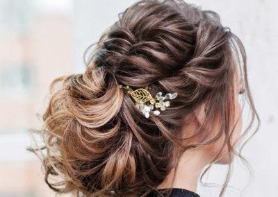 Coiffure de mariée pour cheveux long